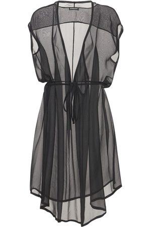 ANN DEMEULEMEESTER | Mujer Vestido De Muselina De Seda Transparente 38