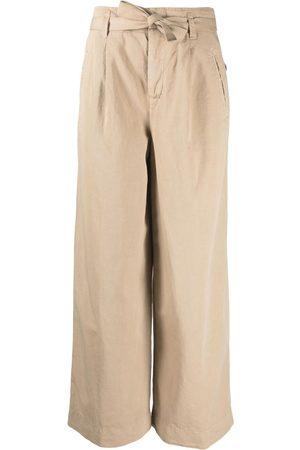 Incotex Mujer Pantalones de talle alto - Pantalones de talle alto anchos