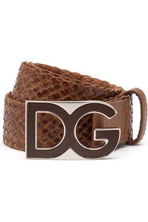 Dolce & Gabbana Cinturón tejido con placa del logo