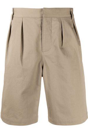 Saint Laurent Hombre Bermudas - Pleat-detail knee length shorts