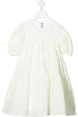 Il gufo Niña De manga corta - Bow-detail short sleeve dress