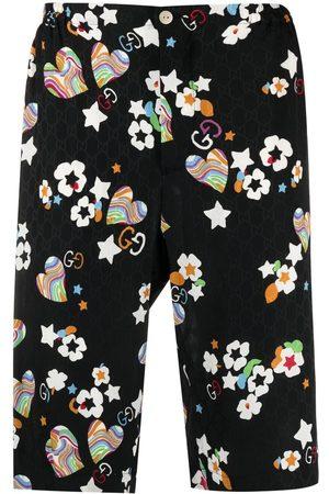 Gucci Hombre Bermudas - Monogram-print knee-length shorts