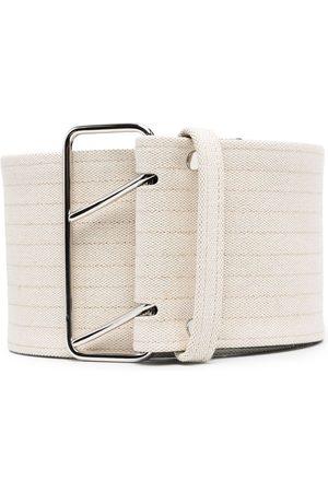 Jil Sander Hombre Cinturones - Cinturón con detalle de rayas