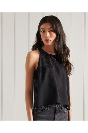 Superdry Mujer Tops - Camiseta de tirantes bordada