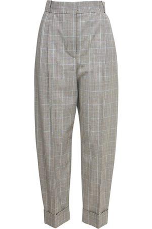 Alexander McQueen | Mujer Pantalones Cropped De Lana Príncipe De Gales 36