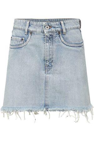 Miu Miu   Mujer Minifalda De Denim De Algodón 36