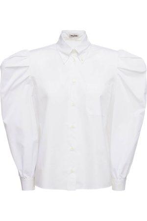 Miu Miu   Mujer Camisa De Popelina De Algodón 36