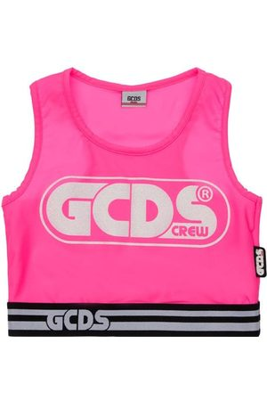 GCDS | Niña Top Corto De Jersey Stretch 10a