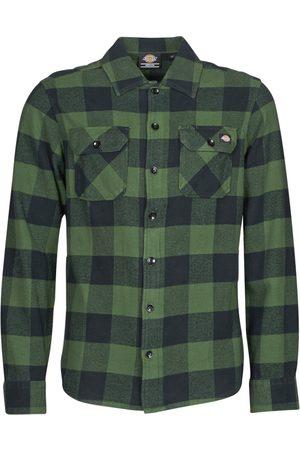 Dickies Camisa manga larga NEW SACRAMENTO SHIRT PINE GREEN para hombre