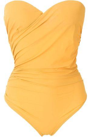 AMIR SLAMA Mujer Bañadores - Bañador estilo bandeau drapeado