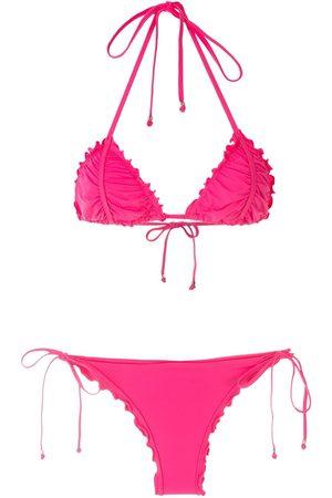 AMIR SLAMA Mujer Bikinis - Bikini con efecto de volante
