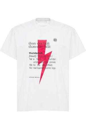 Neil Barrett   Hombre Camiseta De Jersey De Algodón Estampada /rojo/negro S