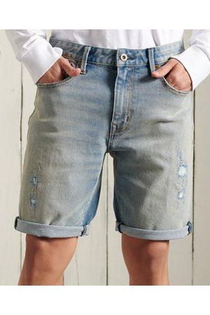 Superdry Hombre Slim - Pantalones cortos vaqueros Slim Repair