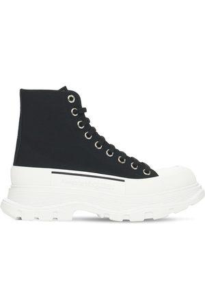 Alexander McQueen Mujer Zapatillas deportivas -   Mujer Sneakers De Lona De Algodón 45mm /blanco 36