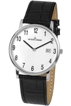 Jacques Lemans Reloj analógico 1-1848B, Quartz, 39mm, 5ATM para hombre