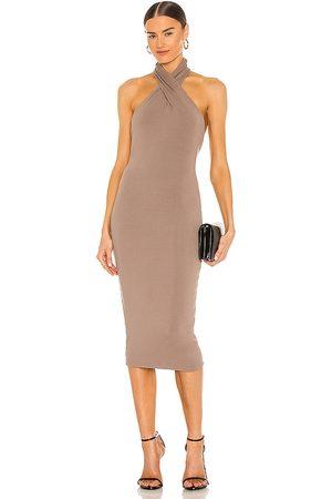 NBD Mujer Midi - Vestido midi anju en color taupe talla L en - Taupe. Talla L (también en S).