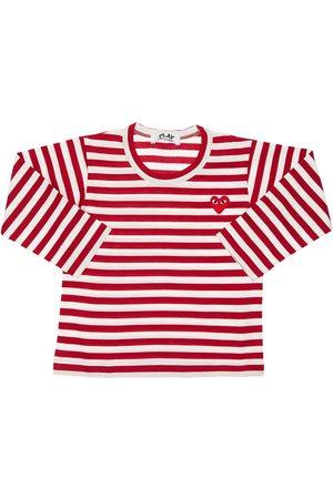 Comme des Garçons Comme Des Garçons Play   Niño Camiseta De Jersey De Algodón A Rayas /blanco 2a