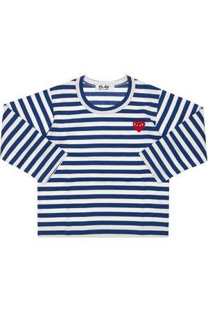 Comme des Garçons Niño Camisetas - Comme Des Garçons Play | Niño Camiseta De Jersey De Algodón A Rayas /blanco 2a