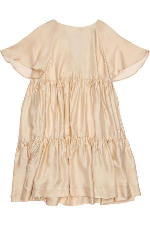 Unlabel Niña Vestidos - | Niña Vestido De Satén Y Viscosa Con Volantes 10a