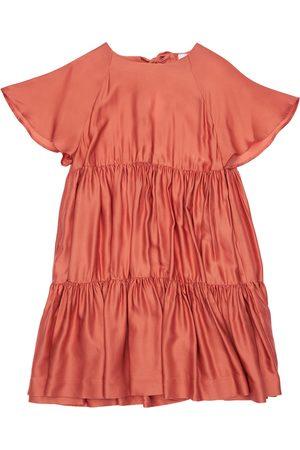 Unlabel | Niña Vestido De Satén Y Viscosa Con Volantes 10a