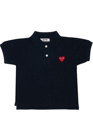 Comme des Garçons Comme Des Garçons Play   Niño Camiseta Polo De Piqué Con Parche Bordado 2a