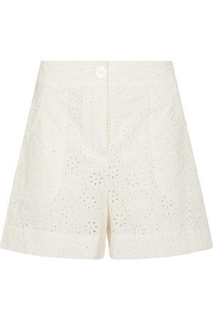 ERES Shorts de algodón con bordado inglés