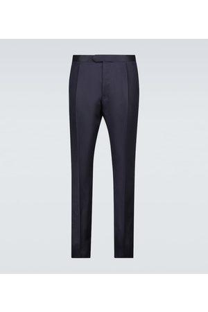 CARUSO Pantalones de seda y lino a medida