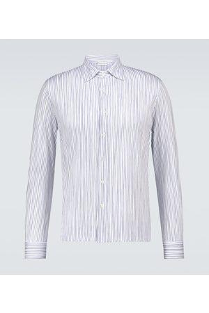CARUSO Camisa de algodón a rayas