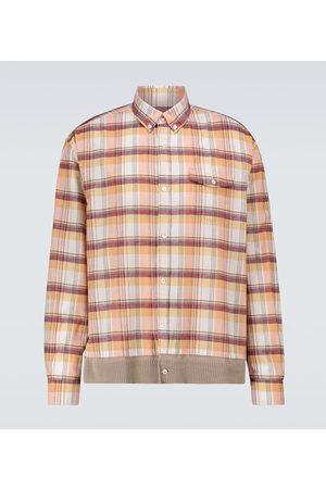 UNDERCOVER Camisa de algodón a cuadros