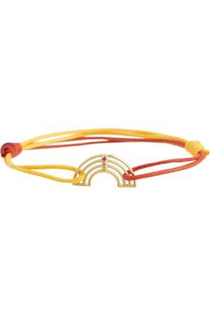Aliita Pulsera de cuerda Arcoiris de oro 9 ct con rubí y zafiros