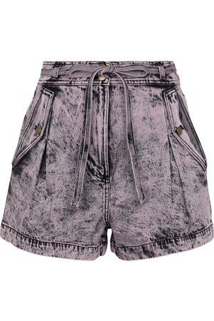 ULLA JOHNSON Shorts Alec de jeans de tiro alto
