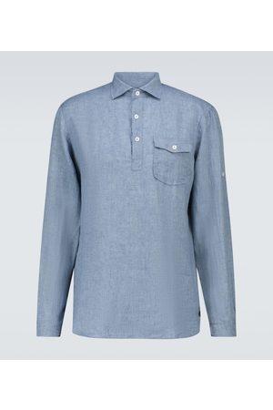 LARDINI Camisa de lino de manga larga