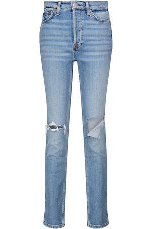 RE/DONE Jeans ajustados '80s de tiro alto