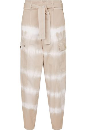 Stella McCartney Pantalones de algodón con tie-dye