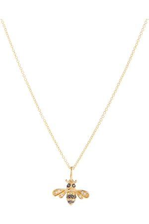 Sydney Evan Collar Bumblebee de oro de 14 ct con diamantes y zafiros