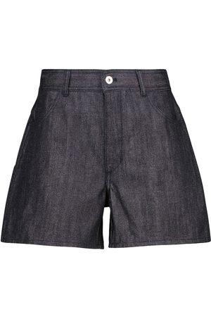 Jil Sander Shorts de jeans de tiro alto