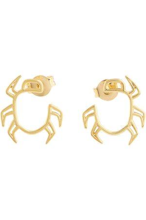Aliita Aretes Escarabajo de oro de 9 ct