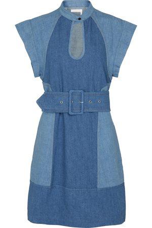 Chloé Vestido corto de jeans con cinturón
