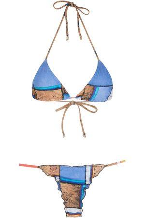 AMIR SLAMA Bikini Eco a rayas