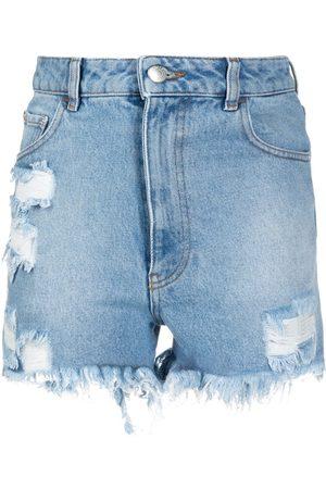 GCDS Pantalones vaqueros cortos rasgados