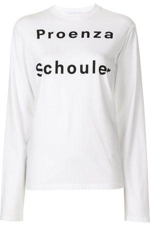 PROENZA SCHOULER WHITE LABEL Camiseta con logo de manga larga