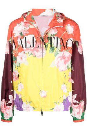 VALENTINO Chaqueta con estampado floral y capucha