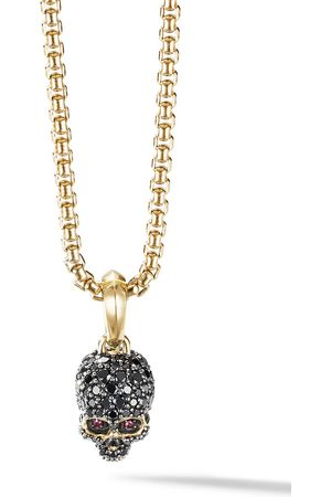 David Yurman Amuleto Skull en oro amarillo de 18kt con diamantes en pavé