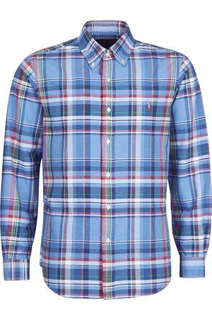 Polo Ralph Lauren Camisa manga larga CHEMISE AJUSTEE EN OXFORD COL BOUTONNE LOGO PONY PLAYER MULTICO para hombre