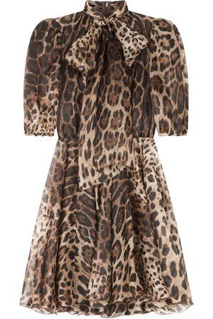 Dolce & Gabbana Vestido con estampado de leopardo