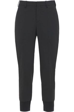 Neil Barrett | Hombre Pantalones Slim Fit De Gabardina De Lana Stretch 44
