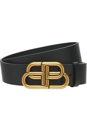 Balenciaga | Hombre Cinturón De Piel Con Hebilla Con Logo 70