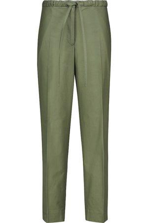 Jil Sander Pantalones rectos de algodón