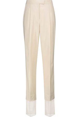 Low Classic Pantalones rectos en mezcla de lana
