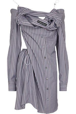 Y / PROJECT Vestido camisero de algodón